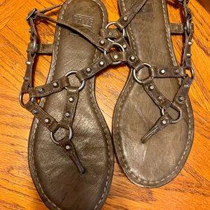 Frye Studded Sandals- Slate